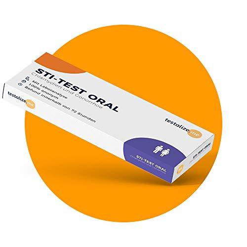 Testalize.me® STI-Test ORAL - Geschlechtskrankheiten Test für Chlamydien und Tripper/Gonorrhö ✓Laboranalyse ✓100% anonym ✓Überprüfung des Mikrobiologen ✓STD Selbsttest