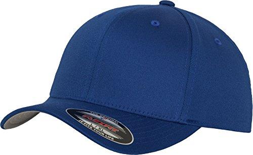 Flexfit Unisex Wooly Combed Unisex Kappe ohne Verschluss für Herren, Damen und Kinder Wooly Combed Baseball Cap, royal, S/M (Herstellergröße: S/M)