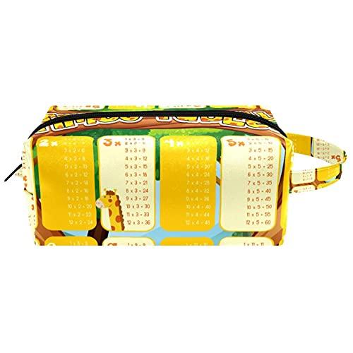 Bolsa de aseo para colgar artículos de papelería cosmética organizador bolsa portátil lapicero multiplicación mesas