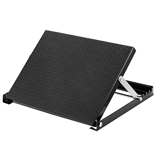 """WL Professional Steel Calf Stretcher, Adjustable Ankle Incline Board and Stretch Board, Slant Board with Full Non-Slip Surface, 16"""" x 14"""", 4 Positions (500 LB Capacity)"""