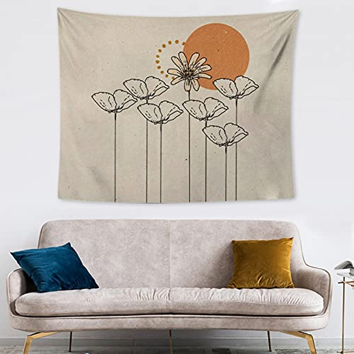 DQLREW Tapestries Wall Hanging Art wall decor retro moon tapestry dormitory hanging cloth living room bedroom sofa background wall decoration cloth bedroom dormitory home decor