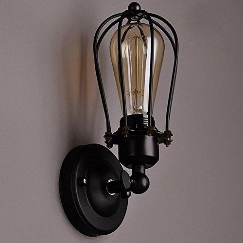 NIHE Lampe murale industrielle rétro lampe murale européenne style style intérieur couloir lampe murale simple torche pommade E26 / E27 lumière