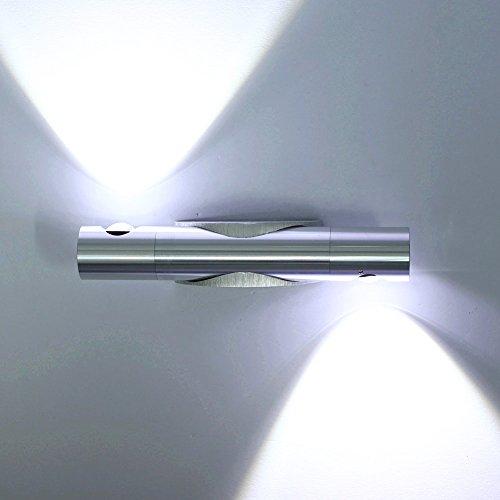 ETiME Wandleuchte LED Wandlampe Flurlampe Wandfluter 360° drehbar Wandbeleuchtung Wandlicht Wandstrahler Effektlampe indirektes Licht(6W kaltweiß)