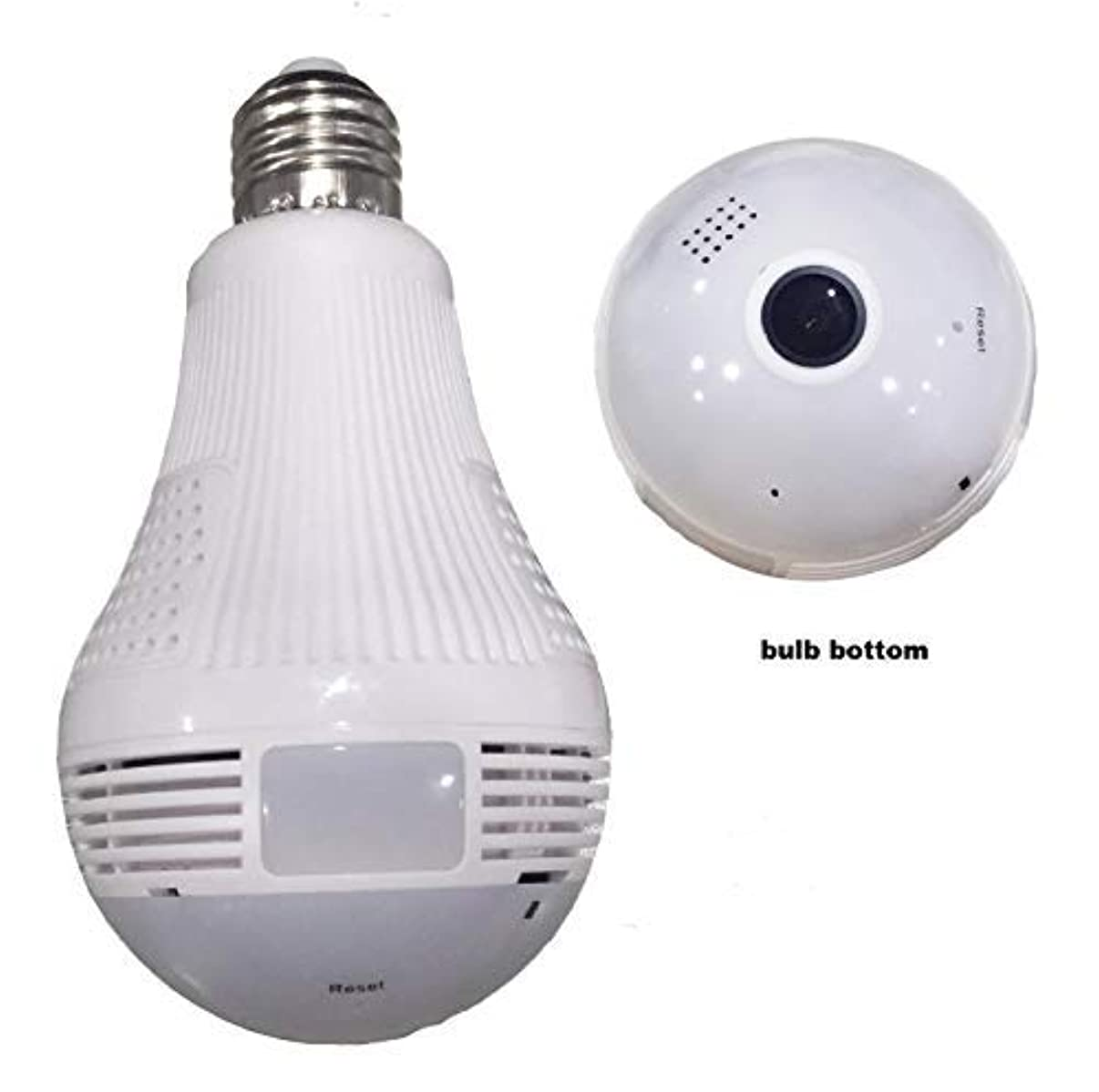 STCBYZ Night Vision 360 Degree WiFi Hidden Light Bulb Camera