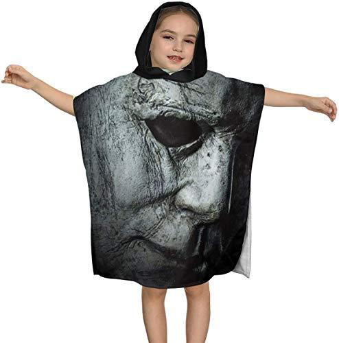 Halloween Mich-ael Myers Premium Kapuzen-Strandtuch für Kinder Jungen Mädchen 2 bis 7 Jahre, schnell trocknende Bade- / Billardtücher Super Absorbent Hooded Poncho , 23,7 x 23,7 Zoll