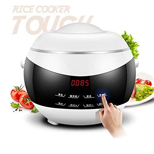 HIGHKAS Olla arrocera eléctrica, Mini Cocina de hogar automática Inteligente de 2 litros, Calor de Vapor pequeño, con Temporizador de retardo de 24 Horas