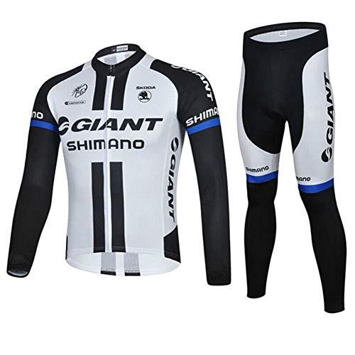 PGone Vélo de Course Giant vélo Maillot à Manches Longues, évacuant l'humidité à séchage Rapide Sport, VTT Route Costume de vêtements de Sport en Plein air (Size : Large)