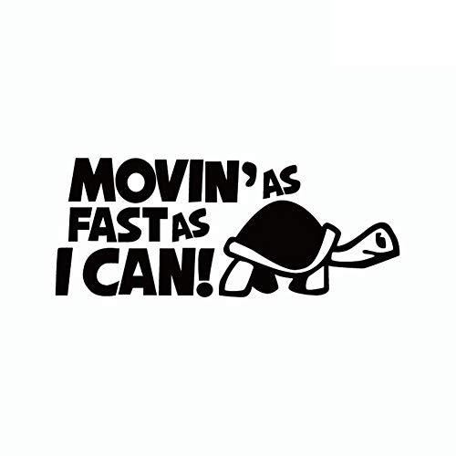 Porfeet Autoaufkleber, Lustige Bewegung So Schnell Ich Kann Schildkröte Autoaufkleber Cartoon Tier Fenster Aufkleber Schwarz
