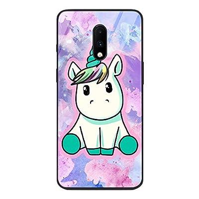ZhuoFan Funda Xiaomi Mi 9T Pro, Cárcasa Silicona 3D Cristal Templado con Dibujos Design Antigolpes de Protector Bumper Case Cover Piel Fundas para Movil Xiaomi Mi 9T / 9TPro, Unicornio