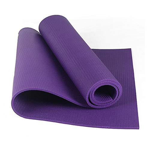 YUXIAOYU Mit Hohen Dichte PVC-Yoga-Matte, Rebound Verschleißfest, Leicht Zu Reinigen Und Umweltfreundlich 6Mm rutschfest Wasserdicht Fitness-Matte,Lila