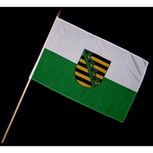 Stock-Flagge 30 x 45 : Sachsen