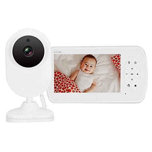 Nanny CAM IR Visión Nocturna Video Audio 2.4G Baby Monitor 4.3 Pulgadas Vidrio Completo para vigilancia de Seguridad para bebés(European regulations)