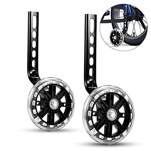 GHMPNLG Training Wheels for Kids Bike,Children's Bike Stabilizers,1 Pair Bicycle Training Wheels,Balance Auxiliar Wheel,Boys Girls Stabilizers Mounted Kit,Safe material, durable (Color : Black)