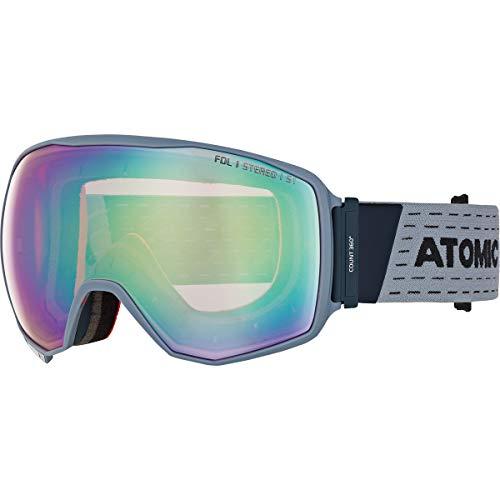 Atomic Unisex All Mountain-Skibrille Count 360° Stereo, für schwaches Licht, Large Fit, Sphärische FDL-Doppelscheibe, blau/pink-gelb, AN5105632