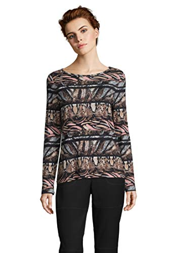 Betty Barclay 4738/0628 T-Shirt, Multicolore (Camel/Black 7893), 50 (Taglia Produttore: 44) Donna