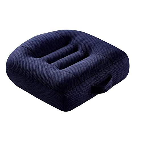 Car Booster Seat Cushion Posture Cushion Portable Breathable Mesh, Effectively Increase The Field of View by 12cm/ 4.7in, Ideal for Office, Home, Angle Lift Seat Cushions,Blue