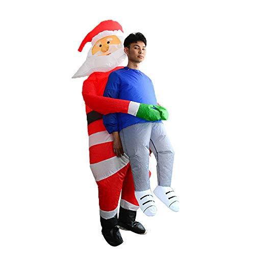 JJAIR Erwachsene Weihnachten Weihnachtsmann Ghosts aufblasbares Kostüm, Partei-Abendkleid Bluse Overall