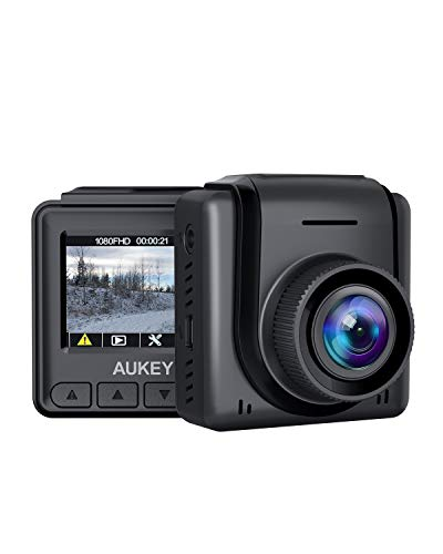"""AUKEY Mini Dash Cam 1080p Full HD Dash Camera with 1.5"""" LCD Screen Car Camera with 170° Wide-Angle Lens, G-Sensor, WDR, Motion Detection, and Clear Night Recording"""