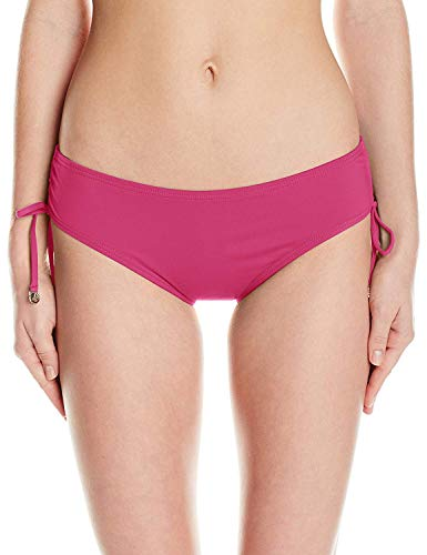 Anne Cole Women's Alex Solid Side Tie Adjustable Bikini Swim Bottom, Pink, X-Small