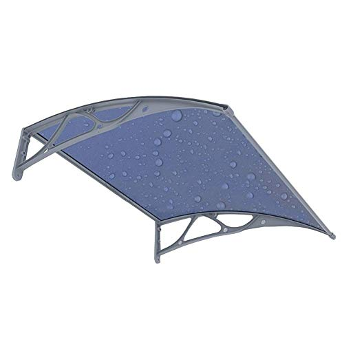 Door Canopy Awning Windproof Cold Protection Roofing Canopy, Outdoor Garden Patio Window, Polycarbonate Curved Design, Customizable-60x100m