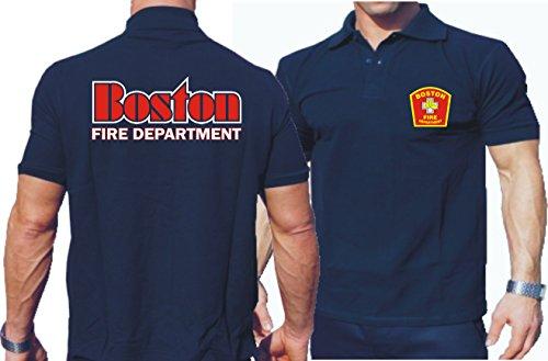 feuer1 Polo Bleu Marine, Boston Fire Dept, de Boston Inscription 3XL Bleu Marine