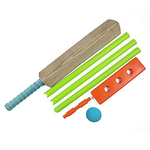 Cricket Set for Children, Safe Cricket Set for Kids Adults Indoor Outdoor Sports, Kids Cricket Bat with Ball and Ball Stumps