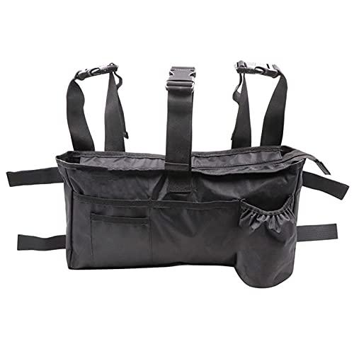 Bolsa de almacenamiento Walker, bolsa de viaje universal para llevar accesorios en silla de ruedas, andadores y sillas de transporte, bolsa organizadora de gran capacidad para reposabrazos de silla
