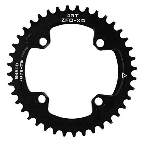 BYARSS BCD 104mm 40T Schmaler Breitkettenring Einzelkettenring for Shimano Crankset AM/XC Fahrrad