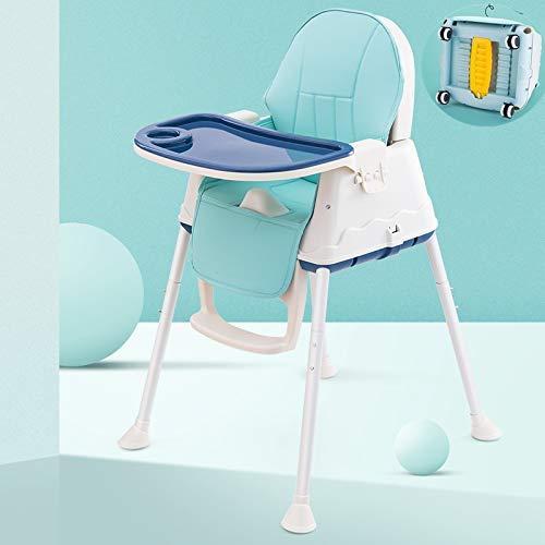 Staranddaisy Folding Baby High Chair with Wheel and Pu Cushion Pad (Purple)