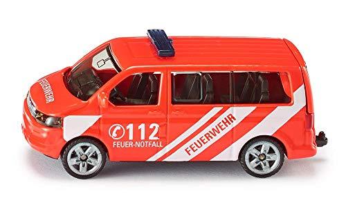 Siku 1460, Feuerwehr Einsatzleitwagen, Metall/Kunststoff, rot, Öffenbare Heckklappe