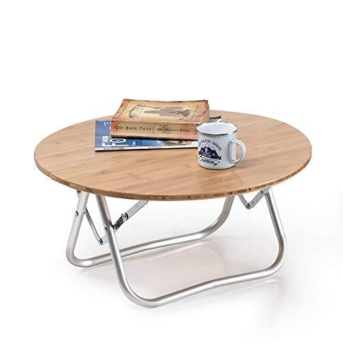 Huangjiahao Mesa plegable de picnic Mesa plegable Mesa redonda de bambú Mesa de picnic Escritorio Camping Viajes para cenar, cocinar, picnic, al aire libre