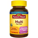 Nature Made, Multi For Her with Iron and Calcium, 90-Count Tablets