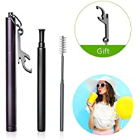 Reusable Metal Stainless Steel Drinking Telescopic Straw