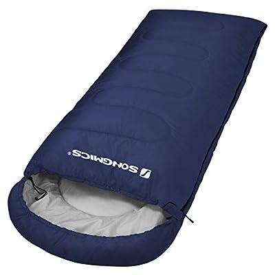 SONGMICS Sleeping Bag, 3-Season Outdoor Camping, Hiking, Portable, for Adults