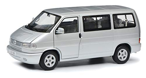 Schuco 450041500 VW T4b Caravelle, 7-sitzer, Modellauto, 1:18, Silber