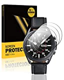 TopACE Screen Protector for Samsung Galaxy Watch 3 45mm, 9H Hardness Tempered Glass[Scratch Resistant][Bubble Free][HD][Case Friendly][High Responsivity](4 Pack)