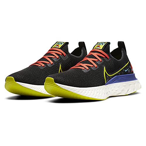 Nike Scarpe da corsa da uomo, nero (Nero/Vela/Rush Viola/Bright Cactus), 43 EU