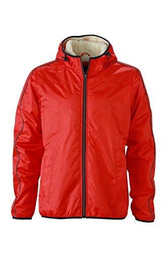 James & Nicholson Herren Jacke Jacke Winter Sports Jacket rot (Light-Red/Off-White) Medium