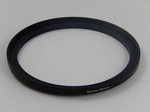 vhbw Adaptador de Filtro Step-UP Metal 86mm-95mm Negro para cámaras, Objetivos Sigma 170-500 mm 5.0-6.3 DG RF APO