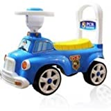 galaxy gift gallery ride-on low-seat car toy cute design pushing cart with horn, anti-falling...
