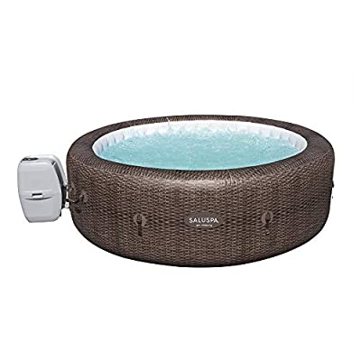 Bestway SaluSpa 85 x 28 Inch 5 to 7 Person Outdoor Inflatable Portable St Moritz AirJet Hot Tub Pool Spa with Cover, Pump, and Filter