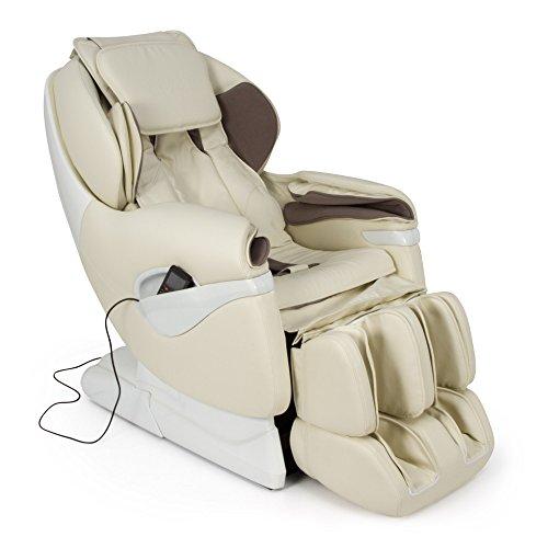 Samsara® Sillon de Masaje 2D - Beige (Modelo 2021) - Sofa masajeador electrico de Relax con shiatsu - Silla butaca con presoterapia, Gravedad Cero, Calor y USB - Garantía 2 Años ✅