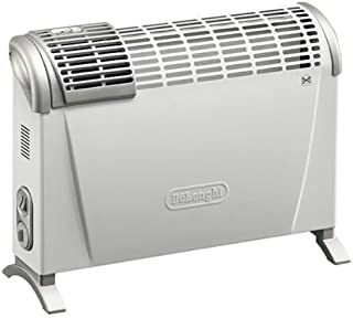 De'Longhi HS20F - Convector turbo, 2000 W, termostato, 2 posiciones, con ventilador asas y kit de montaje mural, color blanco