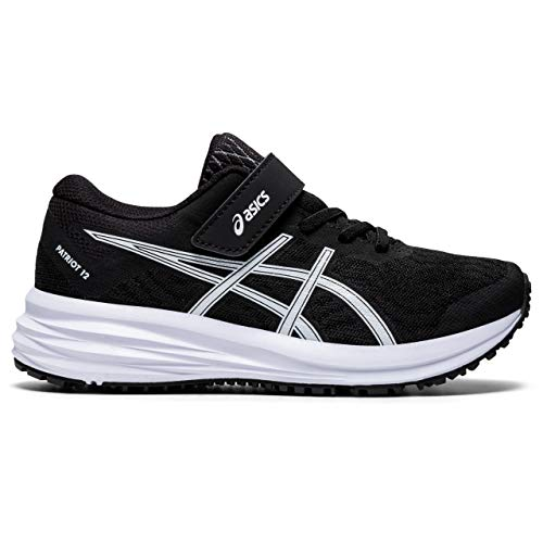 ASICS Patriot 12 PS, Zapatillas para Correr, Black White, 27 EU