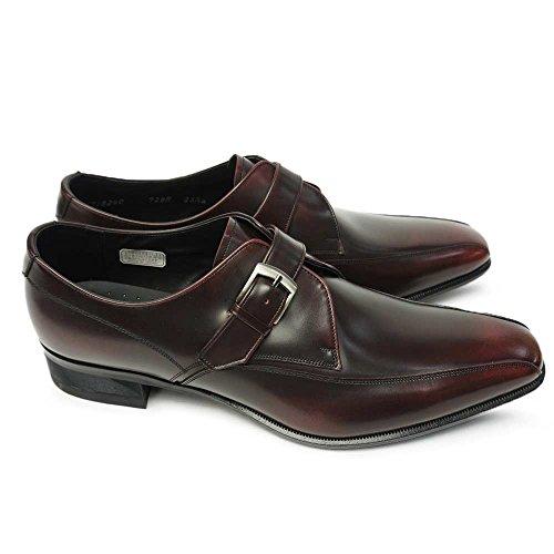 [リーガル] 靴 728R エレガントなメンズビジネスシューズ モンクストラップ 本革 ワイン 25.5cm