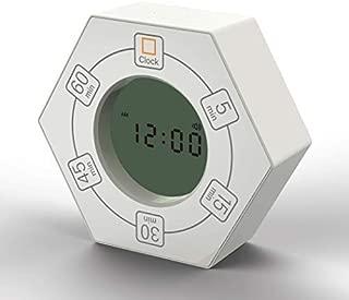 Hexagon Rotating Timer, 5, 15, 30, 45, 60 Minute Preset Countdown Timer (White)