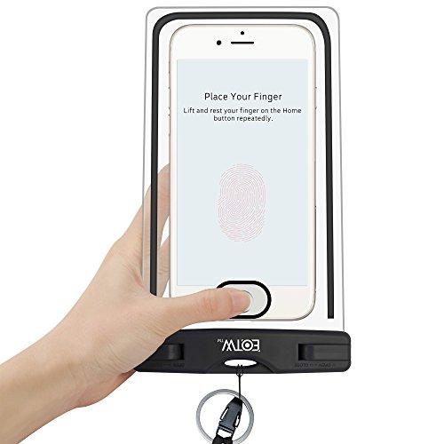 Funda Impermeable para iPhone 7 Plus, EOTW Funda sumergible para los deportes acuaticos y compatible con iPhone 7 6 6 Plus/ Galaxy S7 P7 8 9 y los smartphones hasta 6 pulgadas - IPX8 Certificado, Negro.