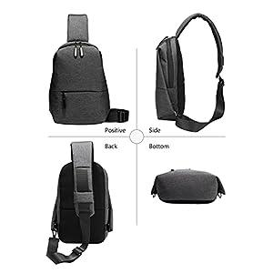 Foyu Crossbody Sling Backpack Sling Bag Travel Hiking Chest Bag Daypack with USB charger port