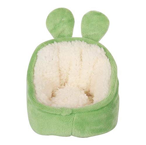 EPRHAN Casa de hámster de algodón, linda casa de invierno, animales pequeños, jaula para jugar a dormir nido para mascotas, juguetes para ratas, conejillo de indias, ardillas, jerbos, color verde
