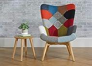 Birlea Patched Sloane Chair, Fabric, Multi-Colour